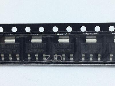 20pcs New Ams1117 1.2v 1.5v 1.8v 2.5v 3.3v 5.0v Adj Sot-223 Voltage Regulator Ic