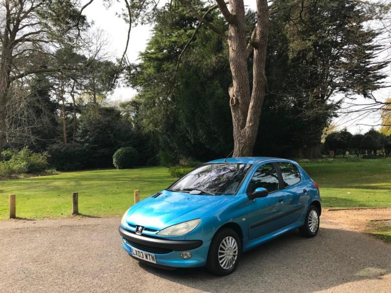 2003 Peugeot 206 1.4 HDi LX 5 Door Hatchback Diesel Blue**£30 A Year Road Tax**