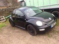 Vw beetle 2001 spare or repairs