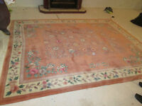 High Quality, Heavy Pile Wool Rug, Soft Rust Colour