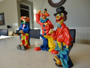 """Selling Three Paper Mache Hand made in Mexico 12"""" Tall Clowns Kitchener / Waterloo Kitchener Area image 2"""