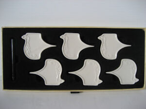 Petite Maison Ceramic Cheese Marker Set of 6