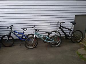 3 Vélos pour pièces