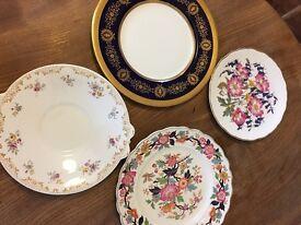 Four vintage plates