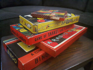 Nice selection of vintage games and books