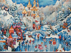 750 Piece puzzle by Bill Bell - Camelot in winter  Medieval Fun
