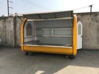 Hand Push Food Cart Mobile Catering Trailer Burger Van Ice Cream Cart 2800x2000