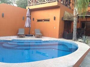 LA CRUZ MEXICO, HOUSE PRIVATE POOL, BEACH CLUB, & GOLF CART