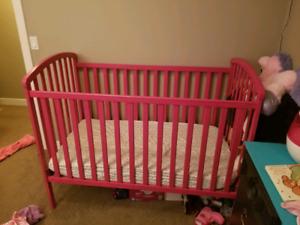 BILY crib painted pink