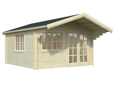 Bzb Log Cabin Kit Pool Or Garden House 123x123150 Sq.ft. Free Shipping