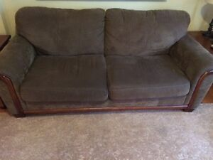 Couch, Oversized Chair & Ottoman