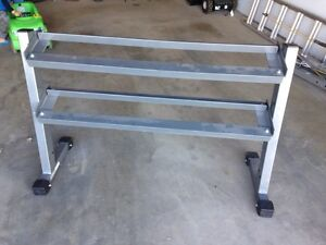 VO3 - 2 Tier Dumbbell Rack, 4' Long Mint Condition