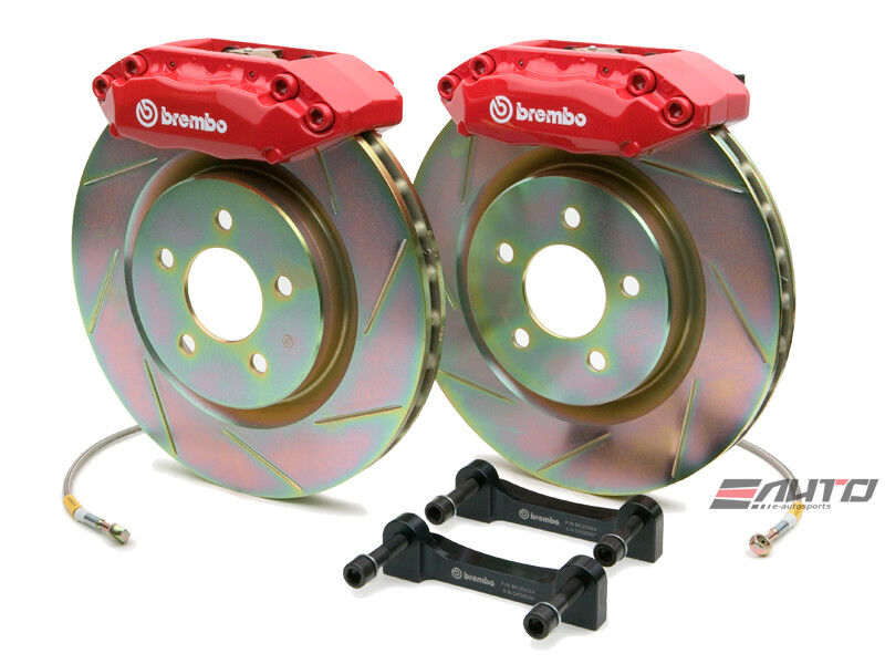 Brembo Front Gt Big Brake Bbk 4piston Red 305x28 Slot Disc Rotor Focus 05-06