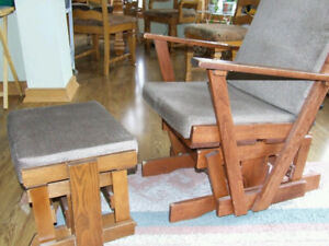 Glider Rocker with matching footstool