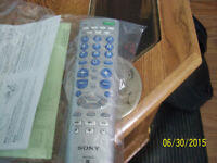 sony universal tv/vcr/dvd remote