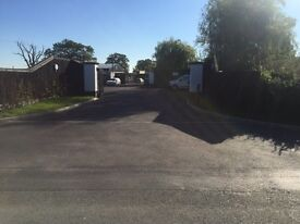 Secure open air storage yard with office Windsor Maidenhead Berkshire