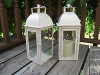 Cream/Glass Lanterns for rent