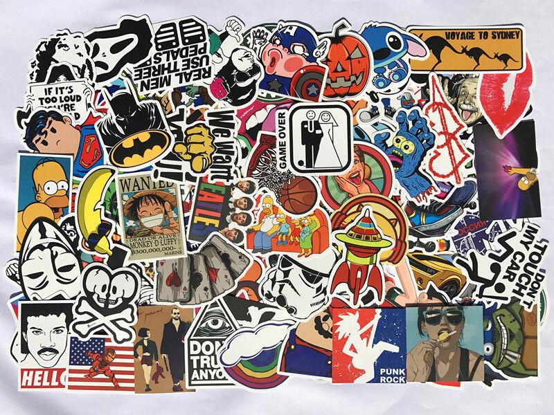 Pack of 100, 200, 300, 500 Random Skateboard Notebook Laptop