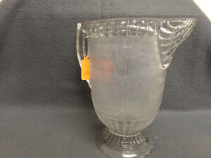 Collectible Antique Wood Grain Etched Glass Pitcher London Ontario image 3