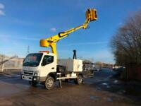 2009 59 Mitsubishi Canter/fuso platform lifted/cherry picker with only 1 owner
