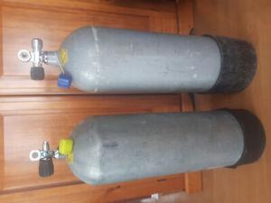 Cylindres de plongée