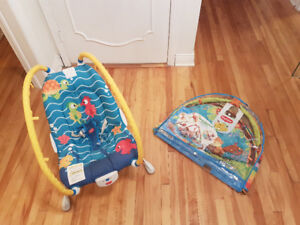Baby vibrating chair and play mat