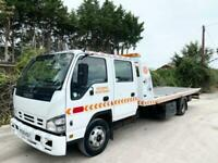 ISUZU NQR RECOVERY TILT + SLIDE BED WINCH 7 SEAT CAB MANUAL GEARS 7,5 TON EXPORT