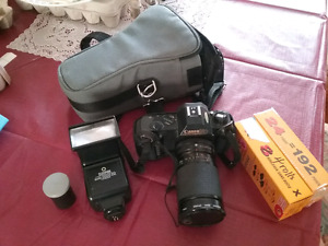 Canon T50 Camera with 3 lenses and accessories