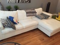 Super comfy white couch