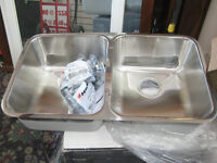 New DOUBLE Stainless Steel Sink