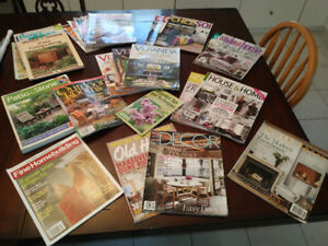 Magazines. Composting, home decor, outdoor rooms and patio.