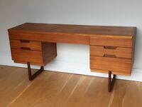 Vintage Uniflex Mid Century Teak Desk / Dressing Table. Delivery. Modern / Danish Style.