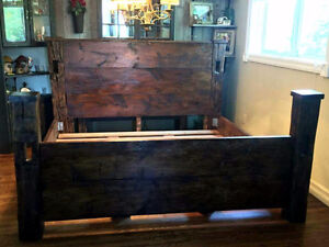 Rustic Reclaimed Wood King Bed Frame