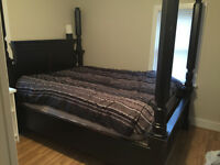 Beautiful rustic 4 poster canopy queensize bed 1of a kind