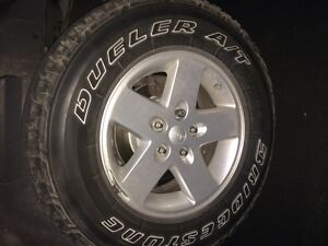 Jeep Wrangler Rims and Tires for sale London Ontario image 1