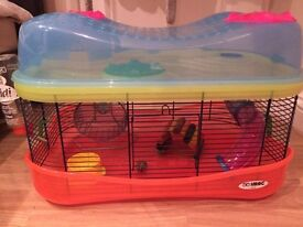 Two tier hamster cage