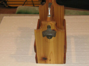 Cedar Beer Caddy with opener