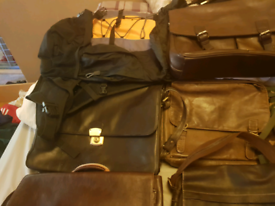 Selection of leather bags 30 pounds