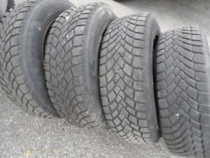 Set of 4, 195/65/15,Winter Tires on Rims, Like New, 5 bolt x 110