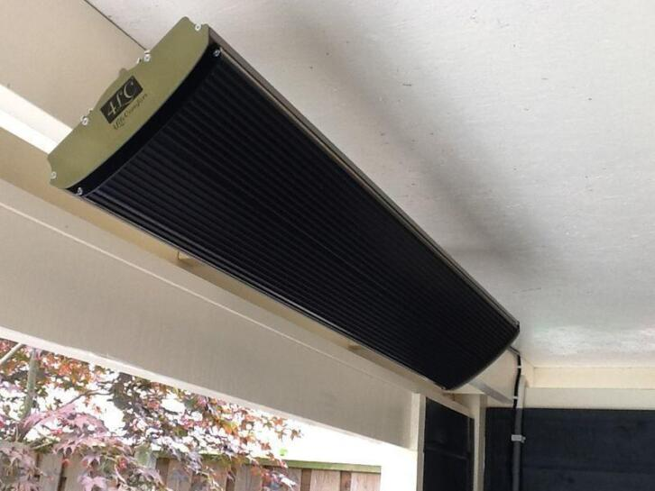 Elektrische terrasverwarming, infraroodverwarmer 1800 watt