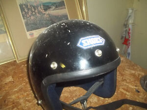 Vintage 1980 SHOE Helmet-Medium & Motorcycle leather Jacket