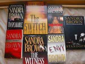 7 SANDRA BROWN ...THE BEST SUSPENSE THRILLERS/ROMANCE