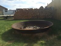 Crusher Cone Fire Pits - Installed