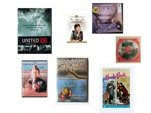 Variety of new and sealed video DVDs (see list)