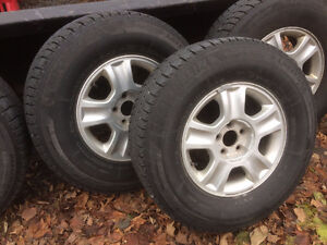 Escape Winter Tires on Aluminum Rims - 245/75 R16