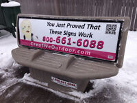 Once a Month Bus Bench Maintenace- $35/hour