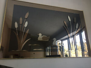 Unique Two Toned Duck Mirror