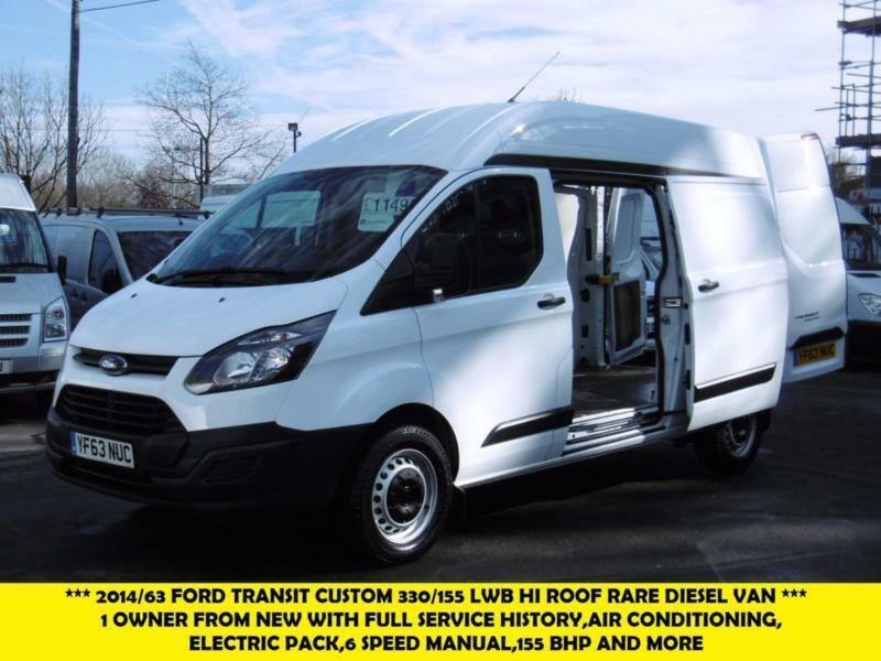 2014 ford transit custom 330 155 l2h2 lwb high roof rare diesel van with air con in kingston. Black Bedroom Furniture Sets. Home Design Ideas