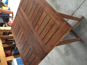 Teak outdoor table.