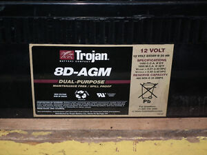 AGM  8D  GELL  DEEP CYCLE BATTERYS  [2]  .USED .